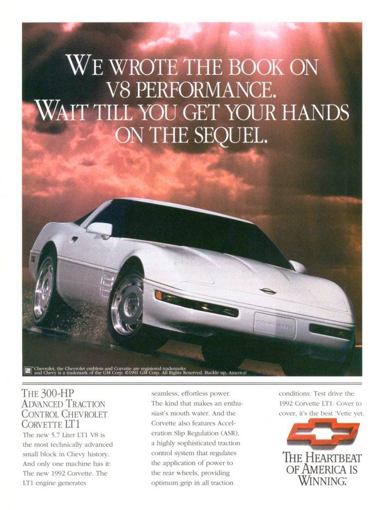 1992 C4 Corvette Ad