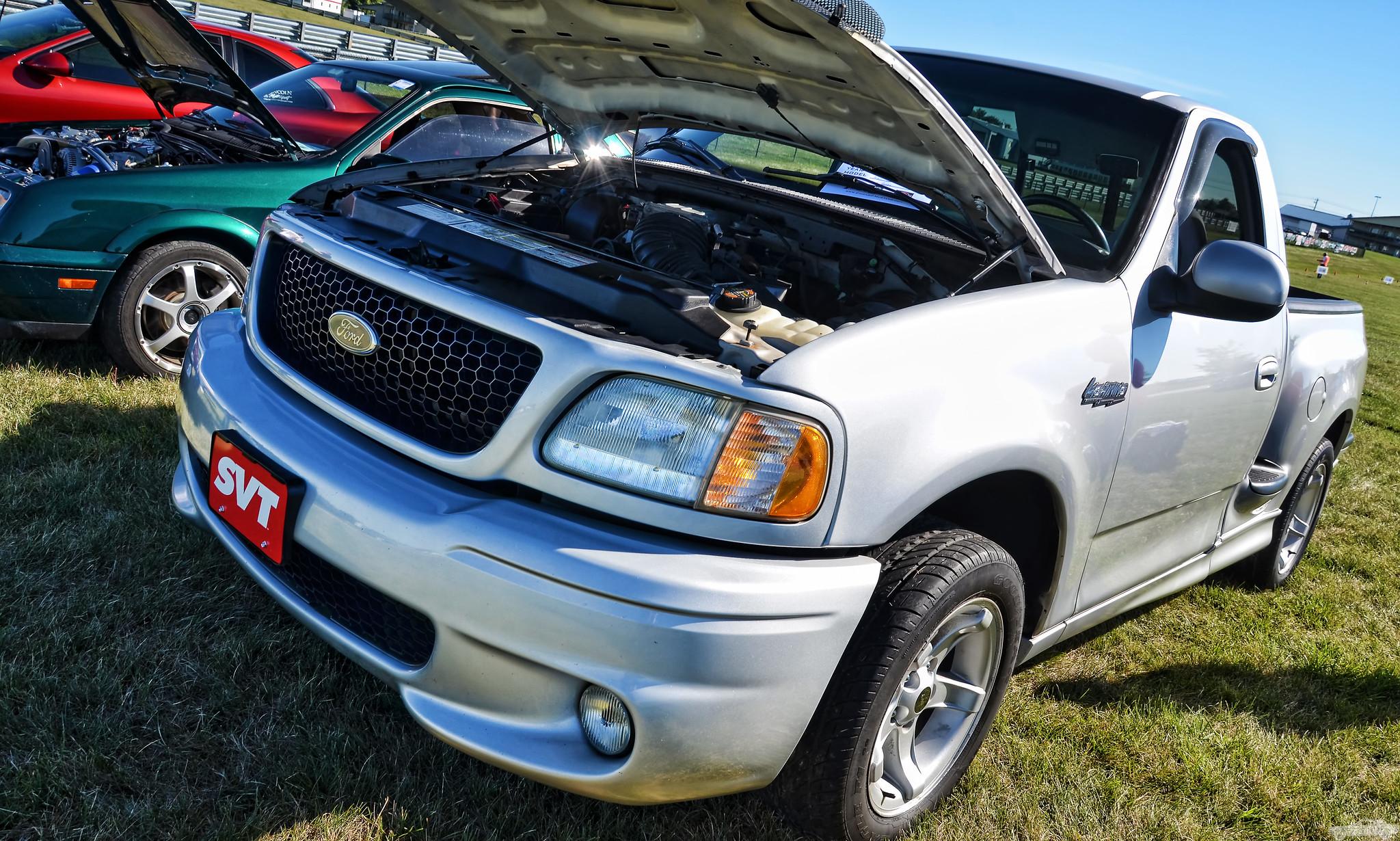 2000 Ford SVT Lightning Front Three-Quarter Hood Up