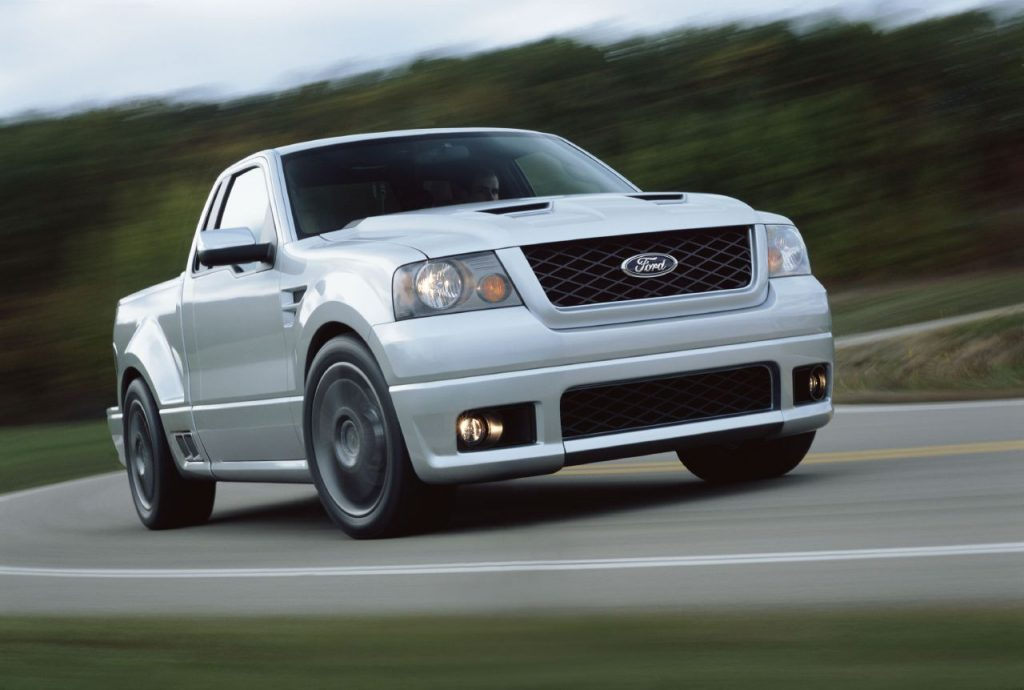 2004 Ford F150 Lightning Concept Front Three-Quarter On Road Action