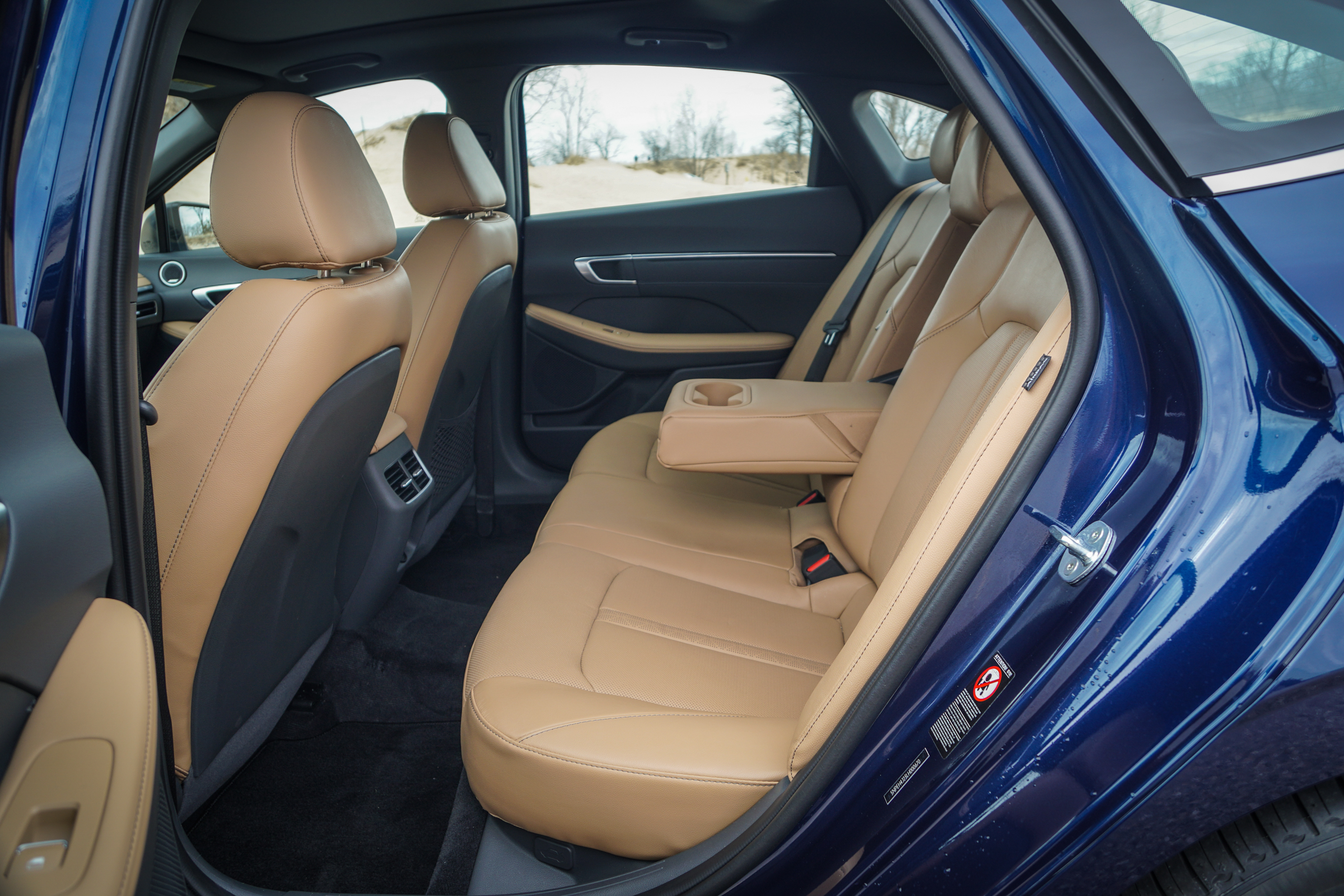 2020 Hyundai Sonata Limited rear seats