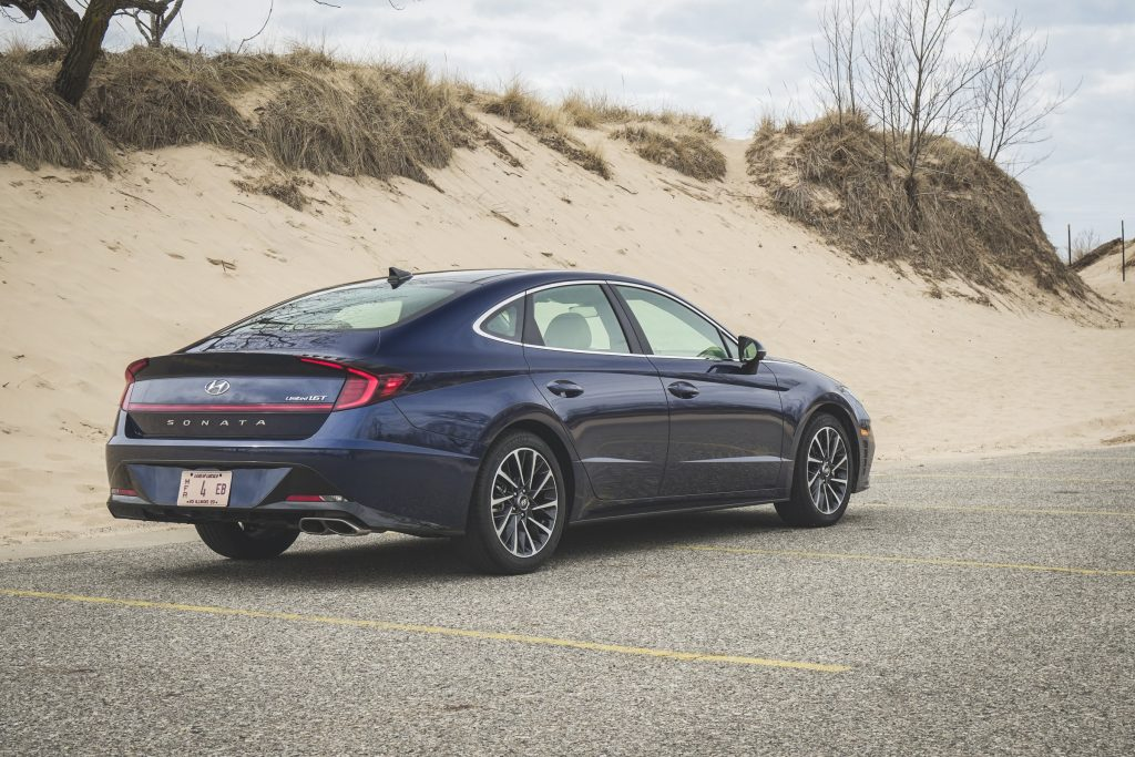 2020 Hyundai Sonata Limited rear 3/4