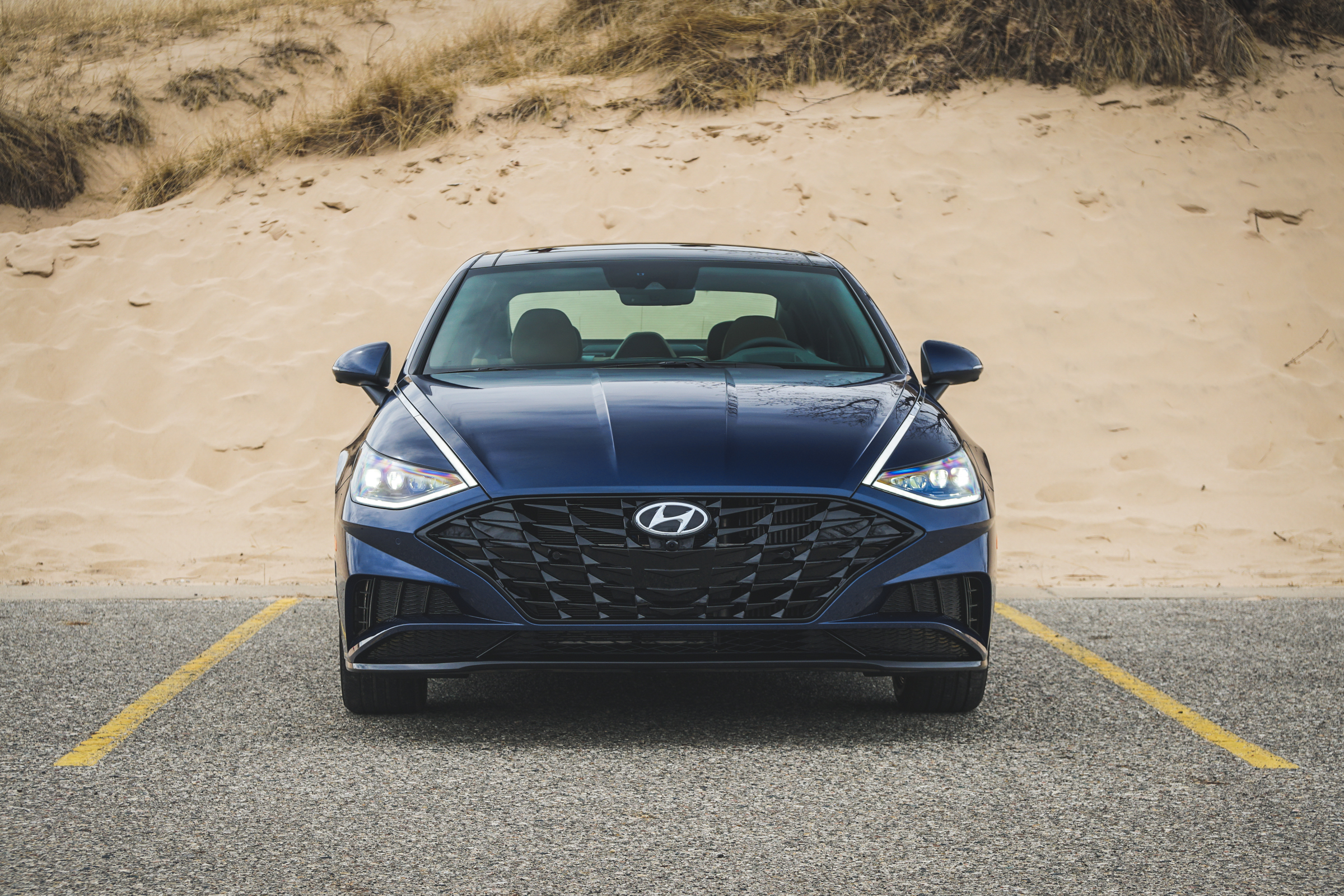 2020 Hyundai Sonata Limited Face on