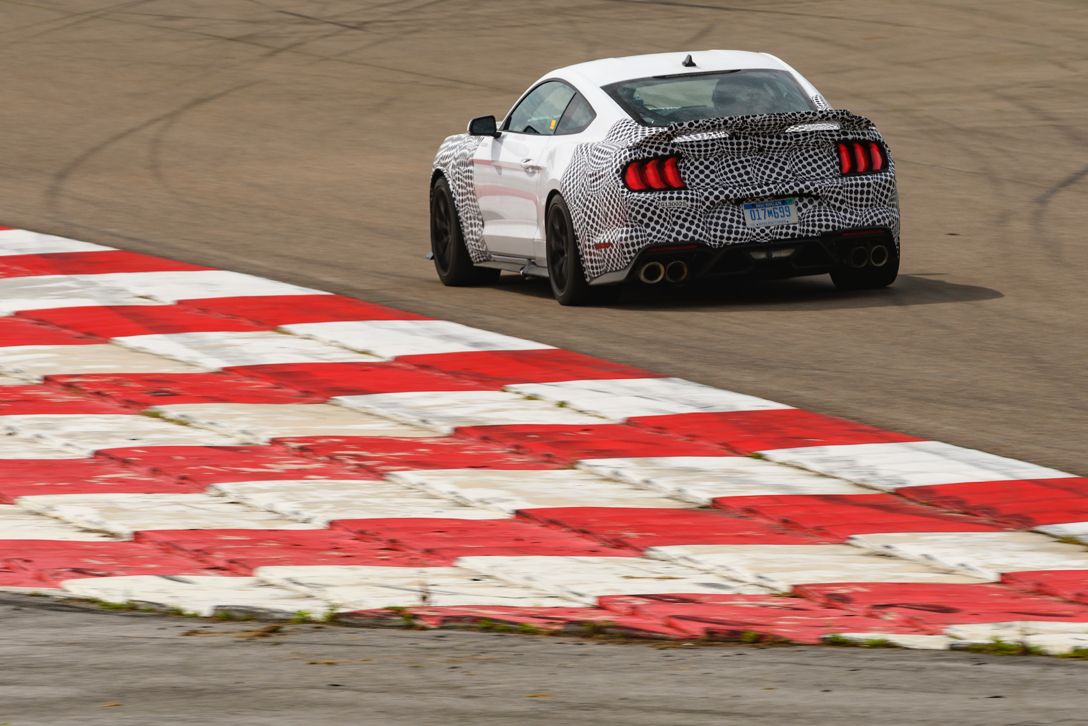 2021 Mustang Mach 1 Rear Three-Quarter On Track