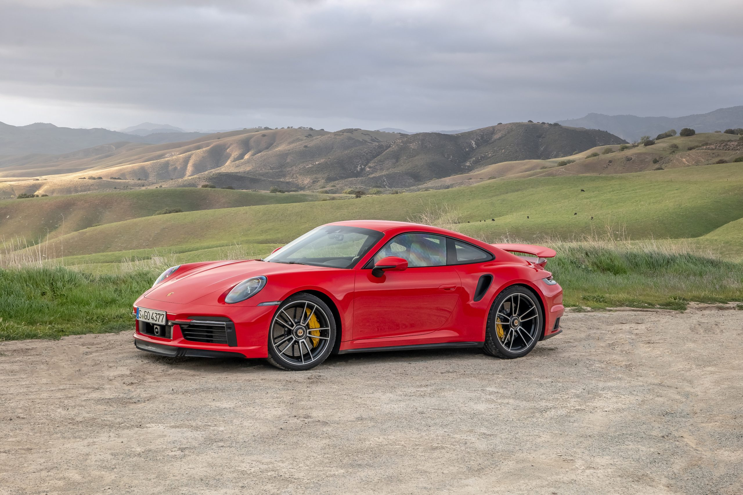 2021 Porsche 911 Turbo S Front Three-Quarter