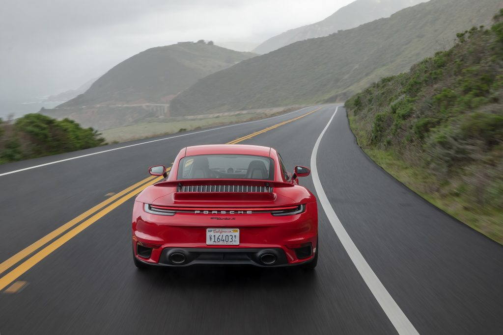 2021 Porsche 911 Turbo S Rear on PCH