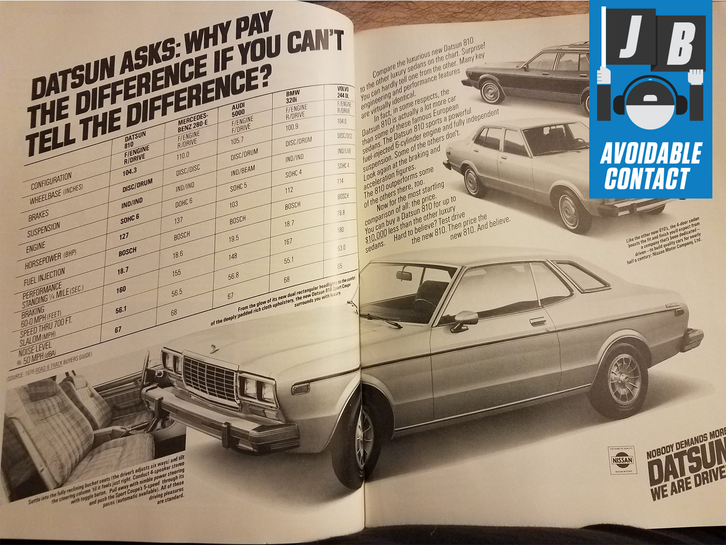 Nissan Datsun Luxury Competitors Comparison Advert