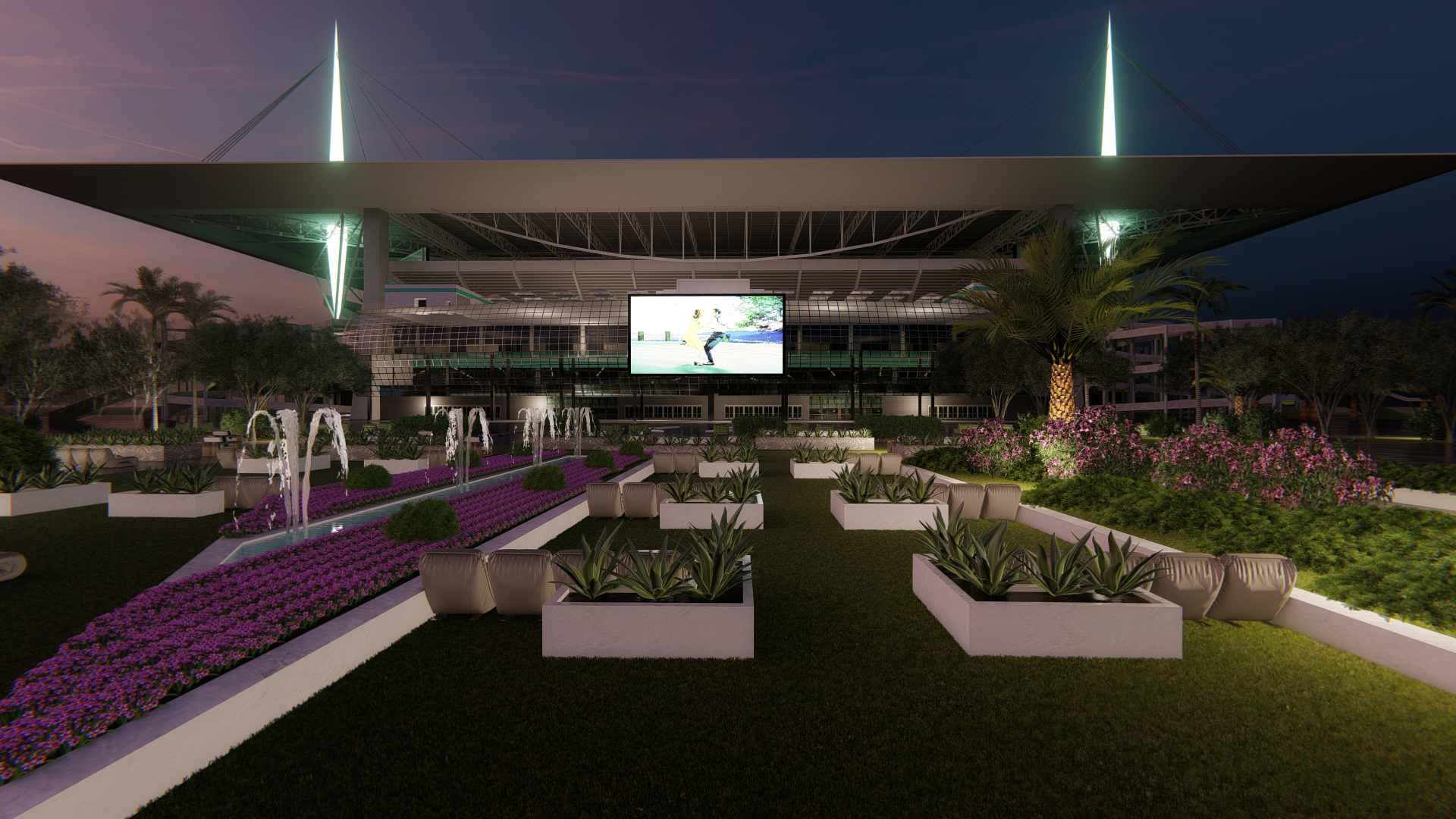 Miami Football Hard Rock Stadium Outdoor Theater Garden