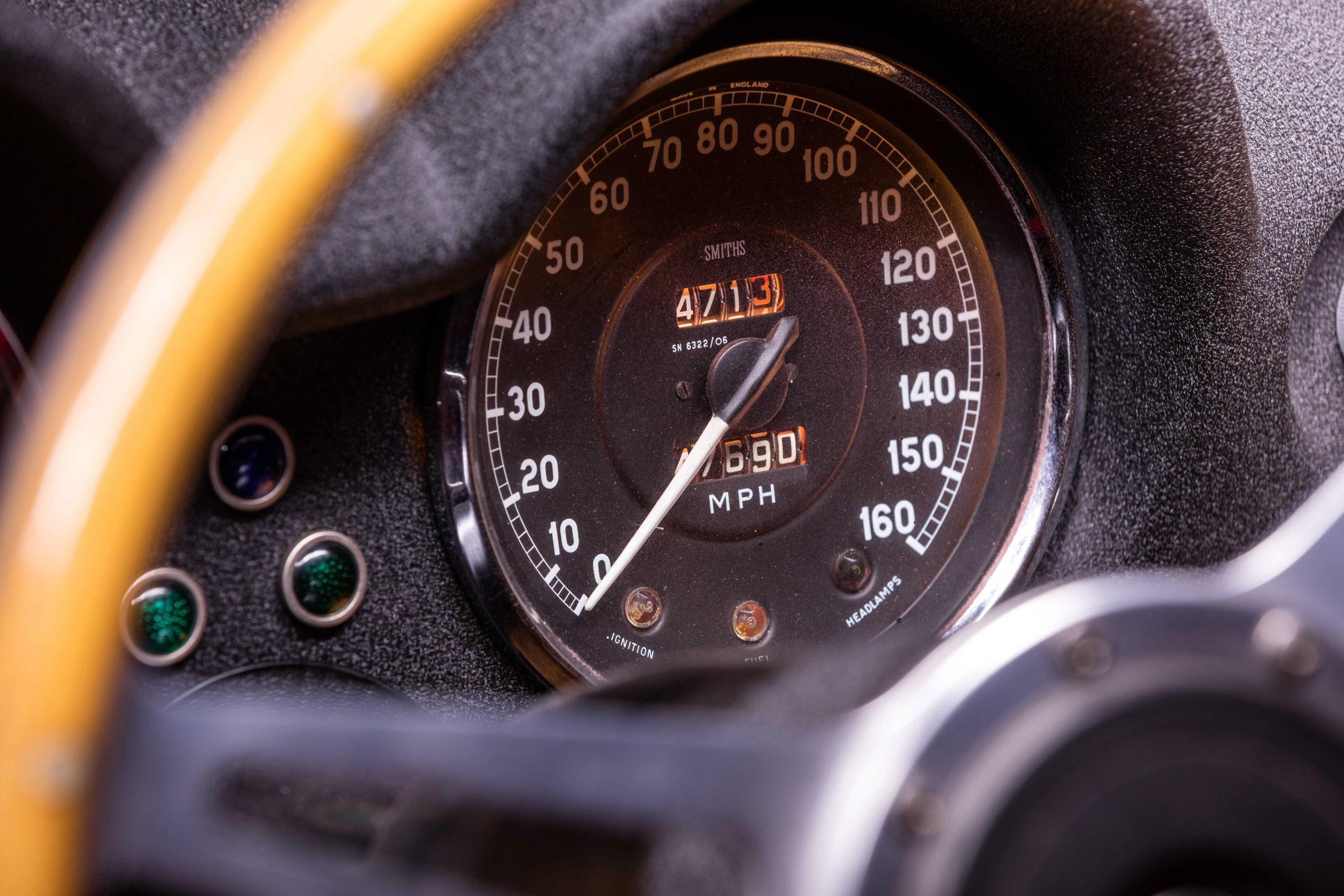 Ferris Bueller Ferrari - HVA Studio close-up speedometer