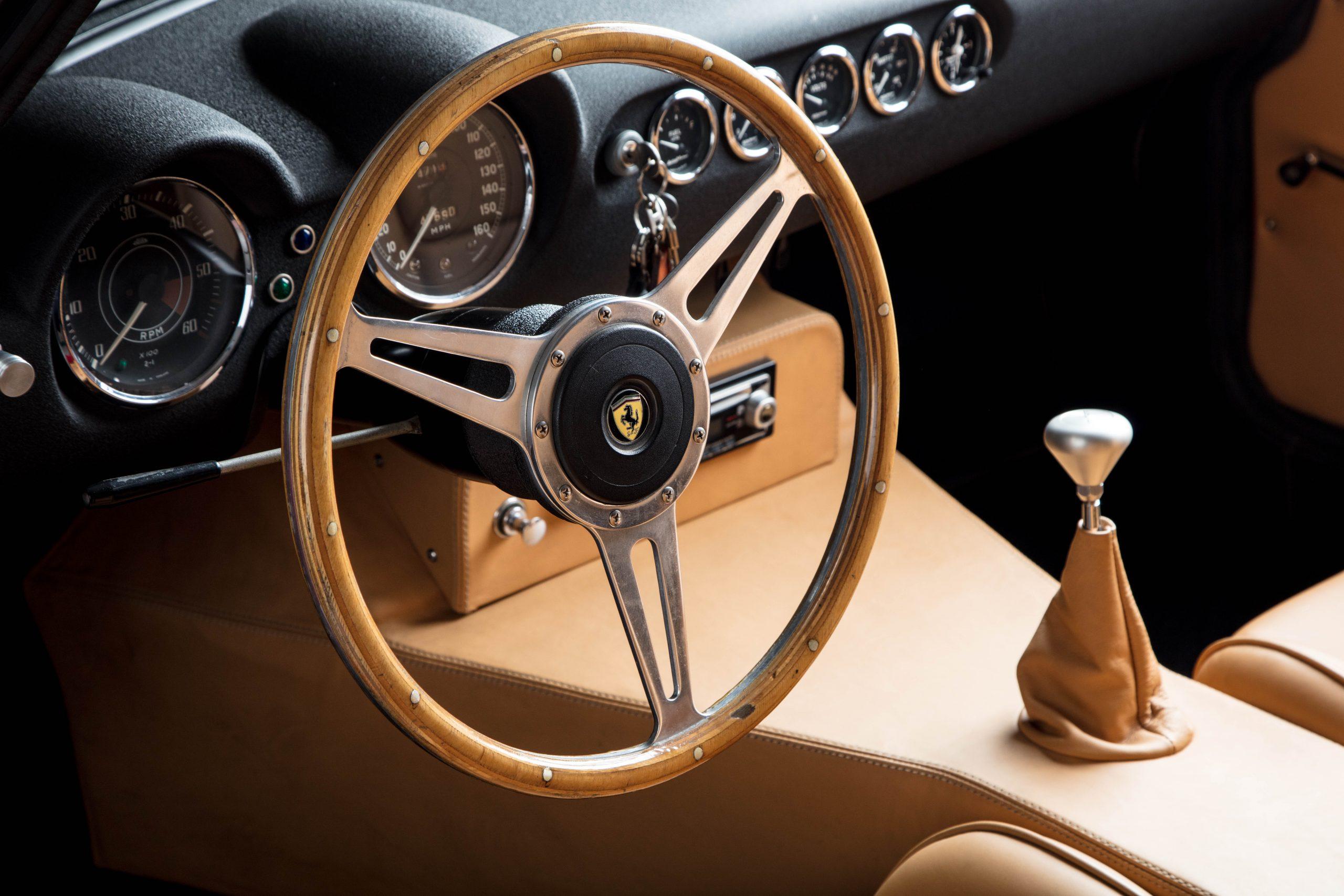 Ferris Bueller Ferrari - HVA Studio close-up steering wheel