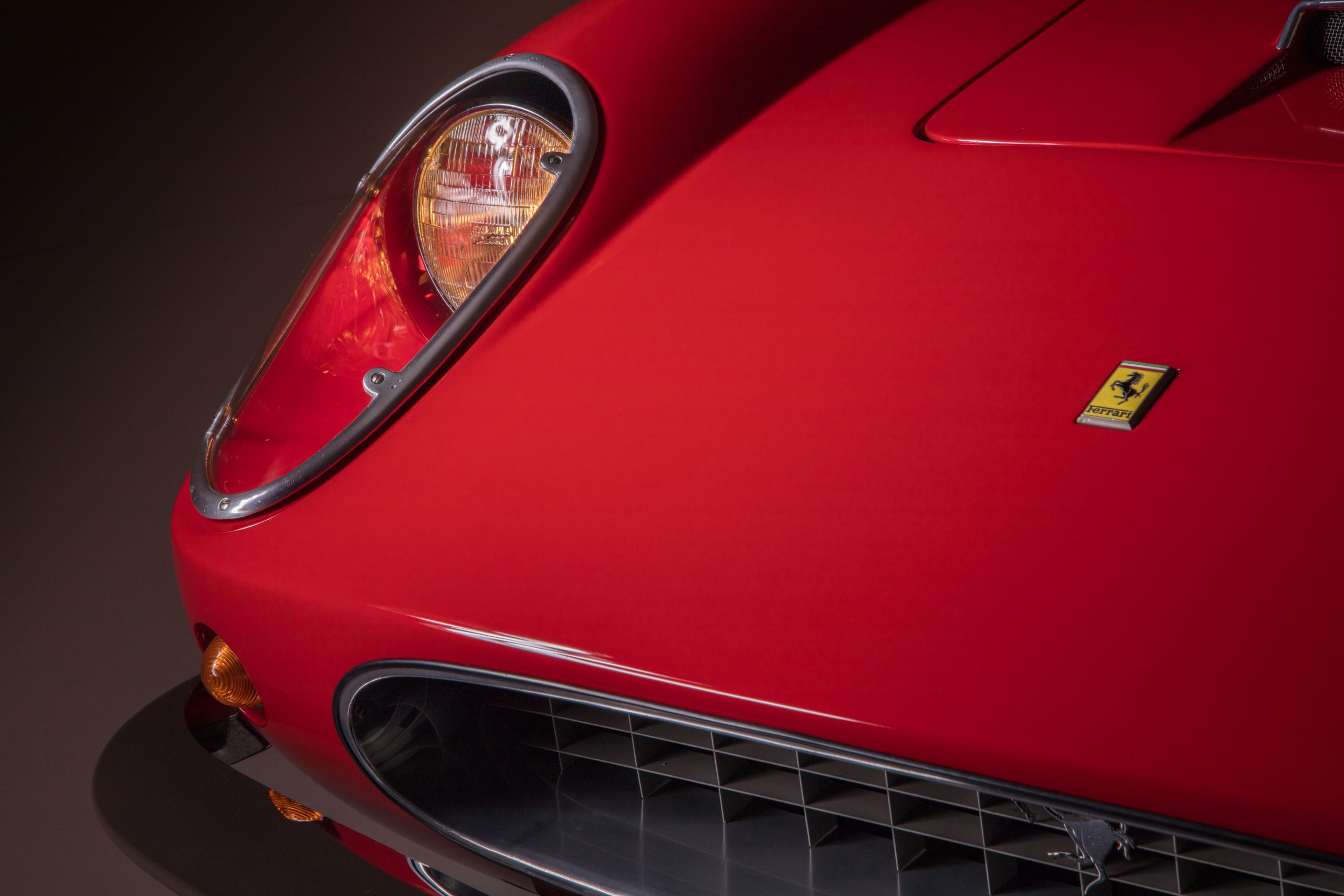 Ferris Bueller Ferrari - HVA Studio close-up headlight