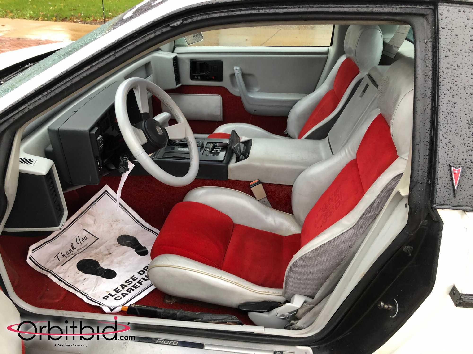 1984 Fiero Pace Car Interior