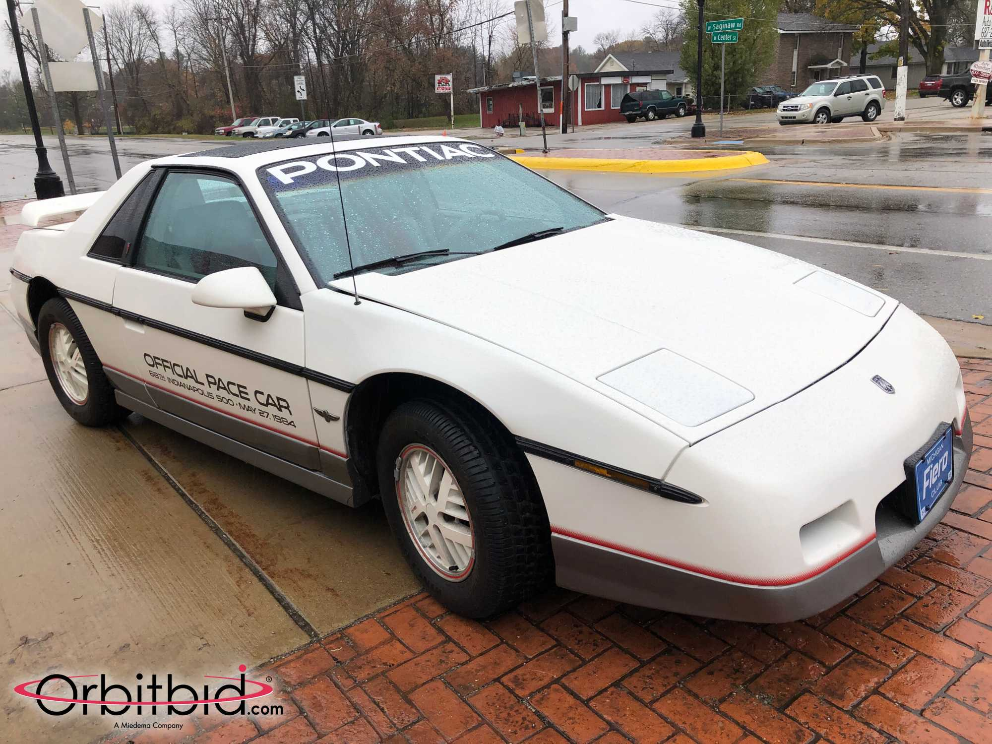 1984 Fiero Pace Car Front Three-Quarter