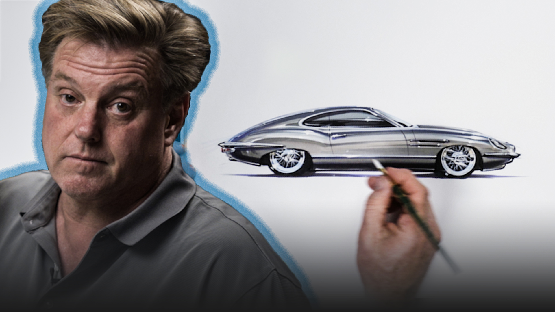 Chip Foose draws a Jaguar E-Type