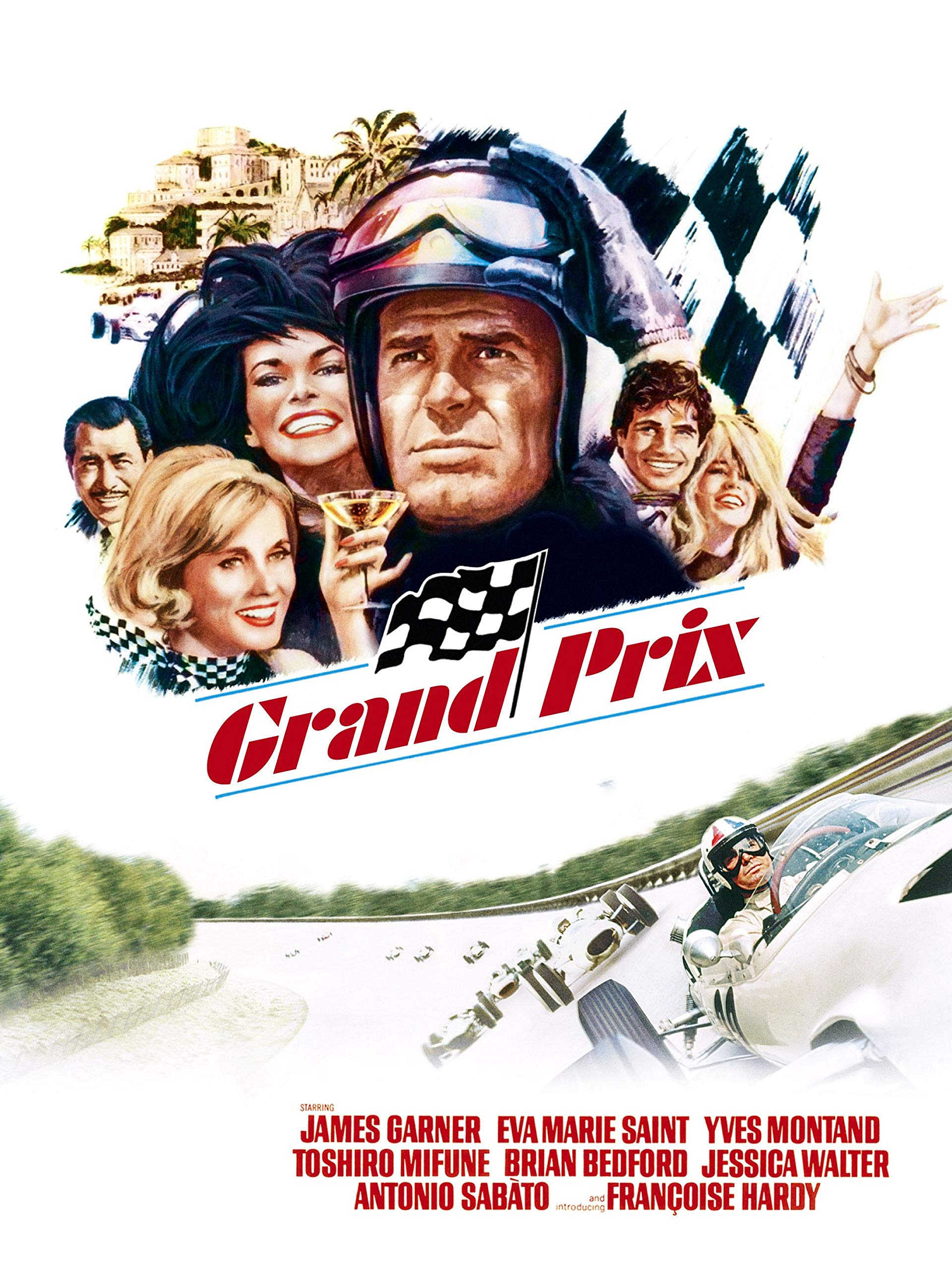 Grand Prix Movie Motion Picture Poster Starring James Garner