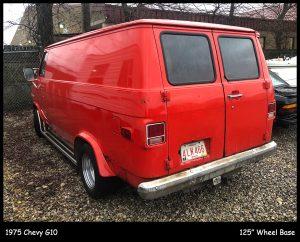 1975 Chevrolet G10 Van Rear Three-Quarter