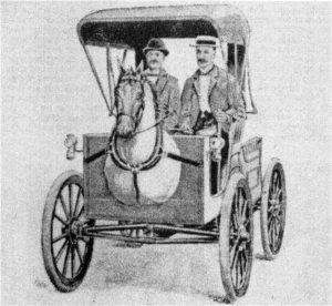 Horsey Horseless - 1899 U.S. Patent image 1