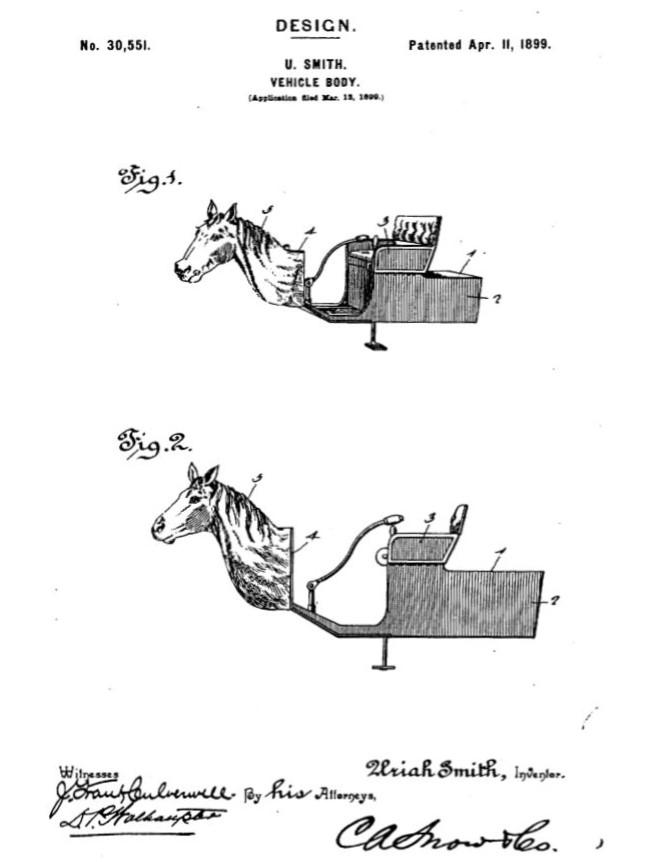 Horsey Horseless - 1899 U.S. Patent image 2