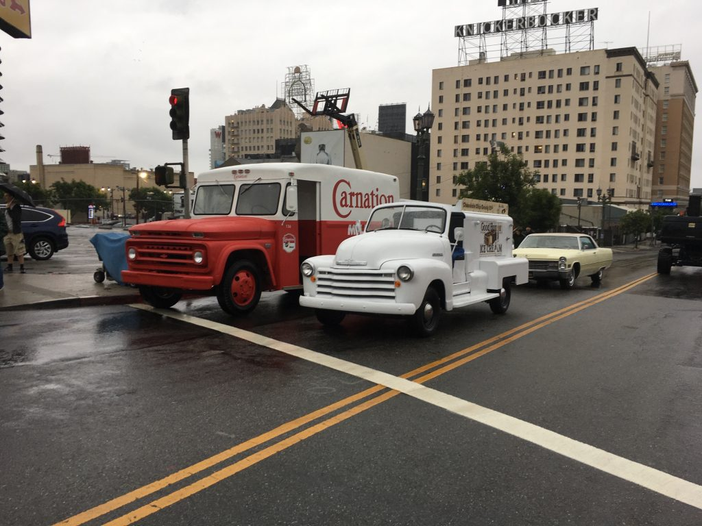 Vintage Car and Delivery Trucks For Movie