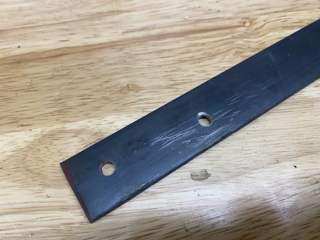 holes in flat stock