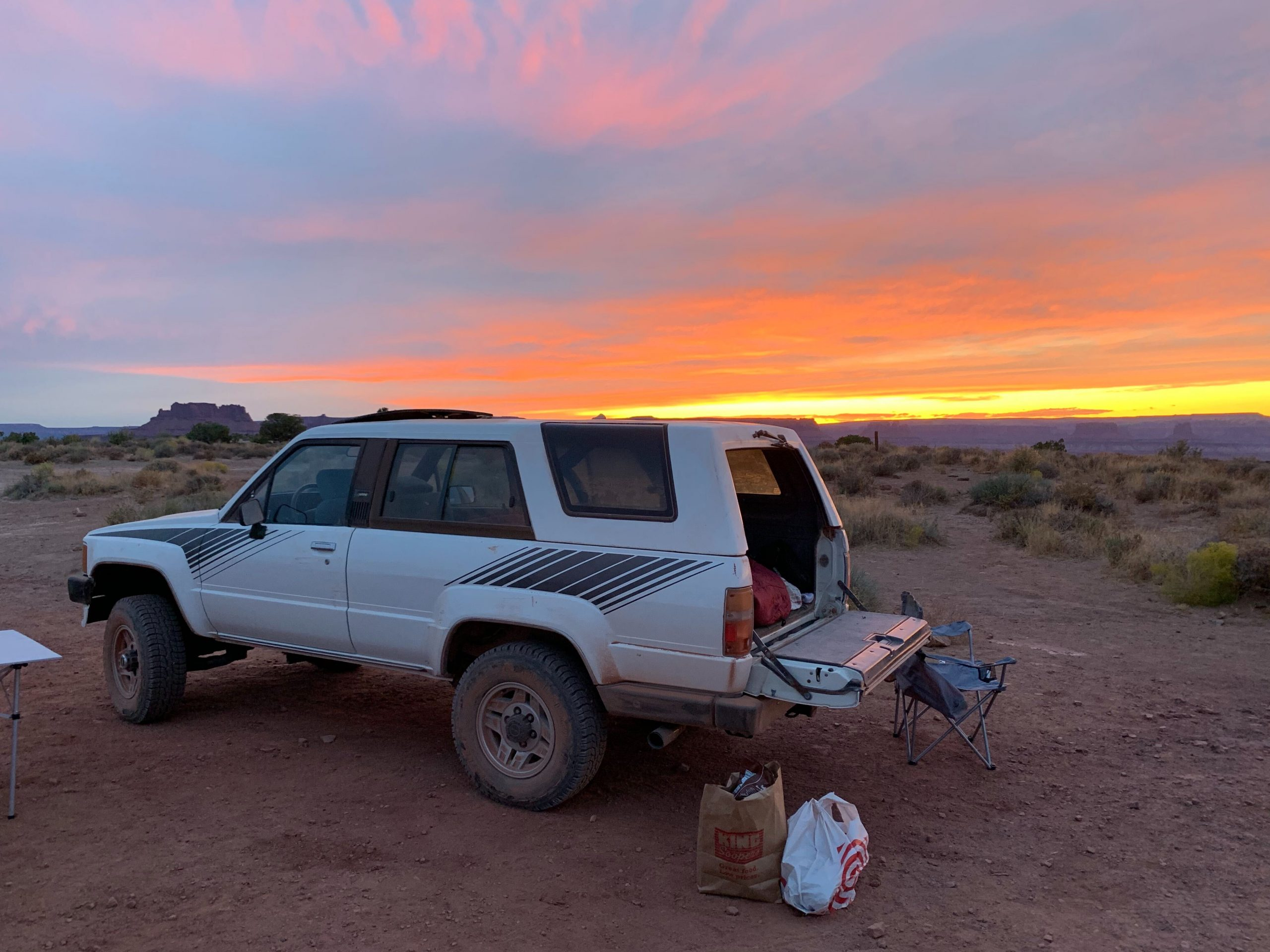 Logan Calkins 1987 Toyota 4 Runner sunset tailgate