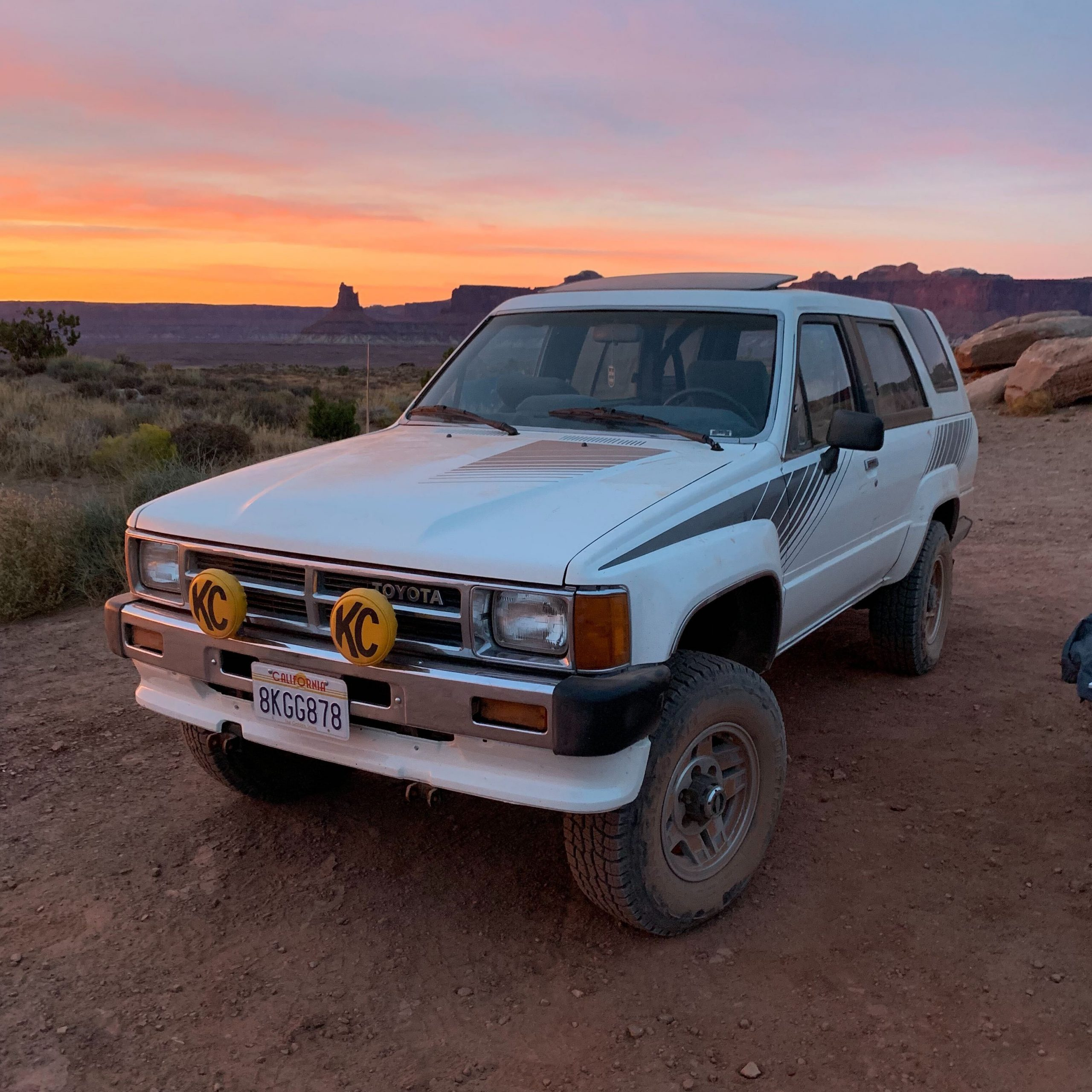 Logan Calkins 1987 Toyota 4 Runner 2 sunset front three quarter