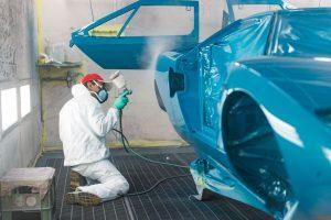 lamborghini countach body rear wheel arch getting paint