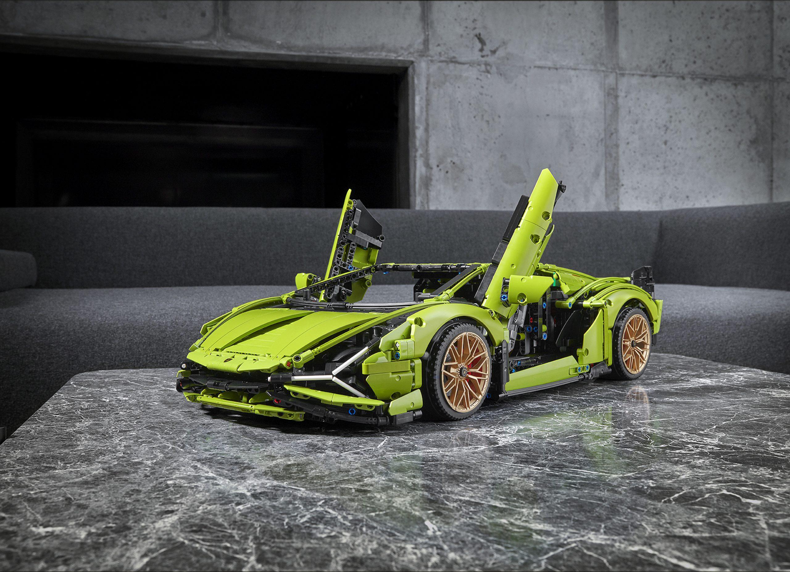 LEGO Lamborghini Sian Front Three-Quarter Doors Up