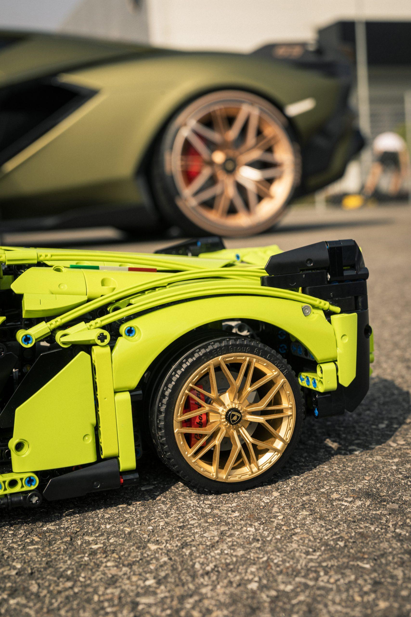LEGO and Lamborghini Sian Rear Wheels