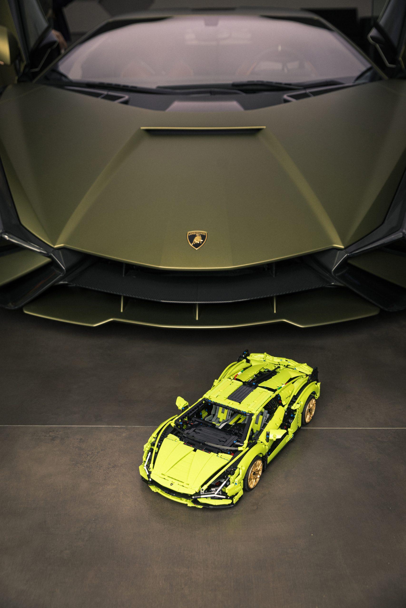 LEGO and Lamborghini Sian Fronts