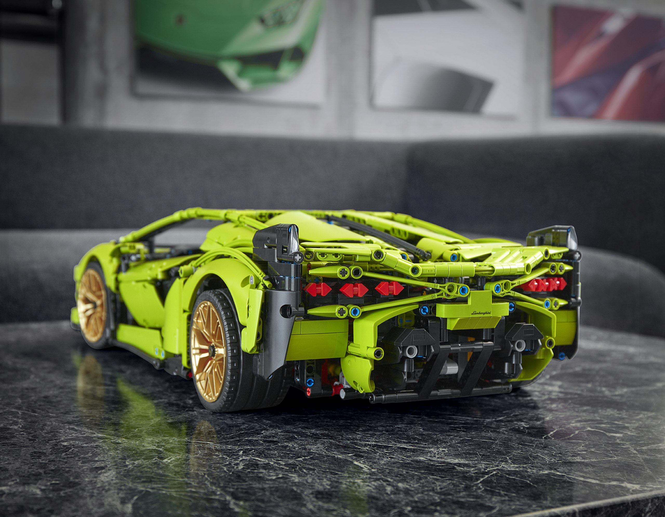 LEGO Lamborghini Sian Rear Three-Quarter