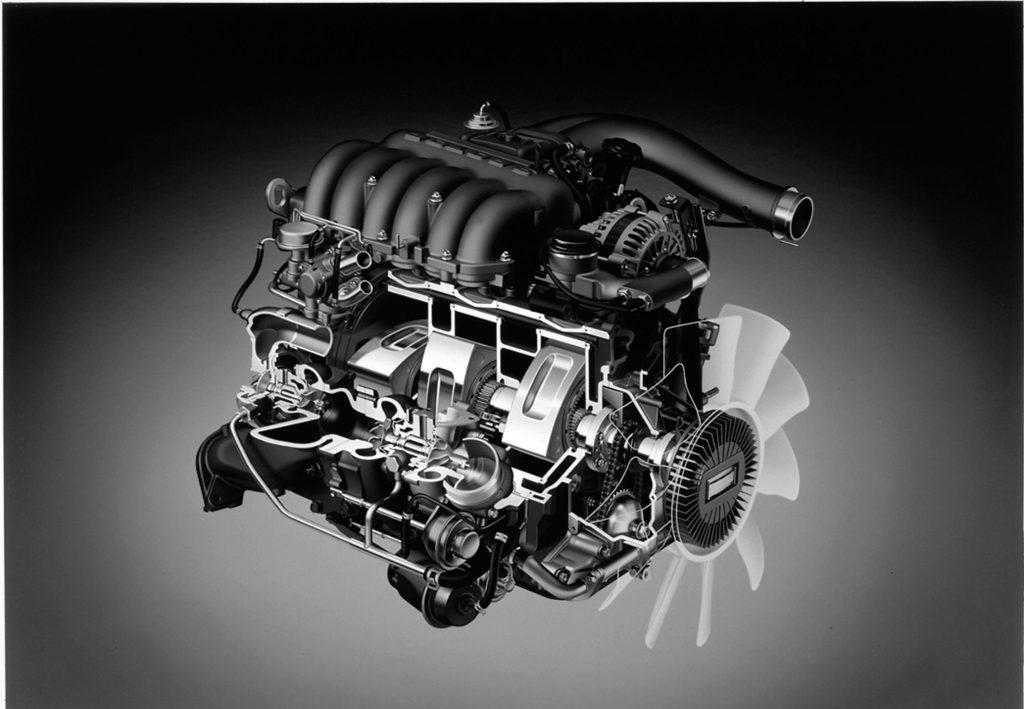 Cutaway illustration of a Mazda Wankel Rotary