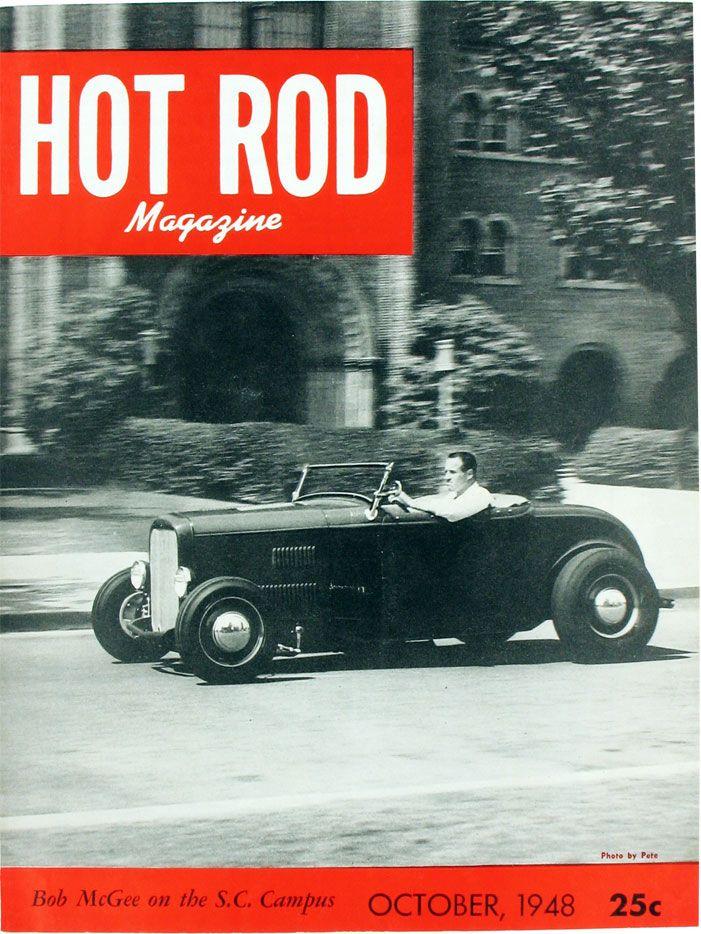 McGee Roadster - 1932 Ford - HVA - 1948 Hot Rod magazine cover