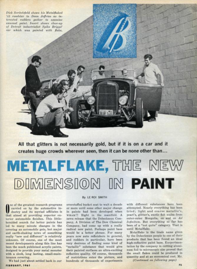 McGee Roadster - 1932 Ford - HVA - Metalflake paint - 1961 Hot Rod magazine