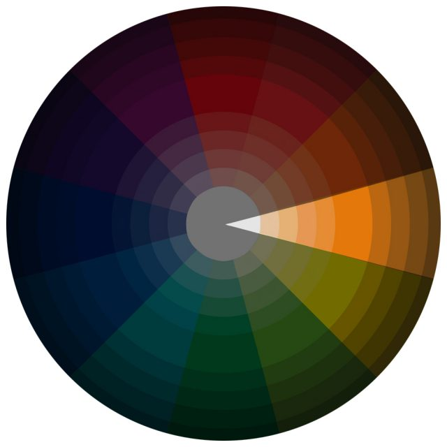 Monochromatic Color Scheme On CMYK Wheel