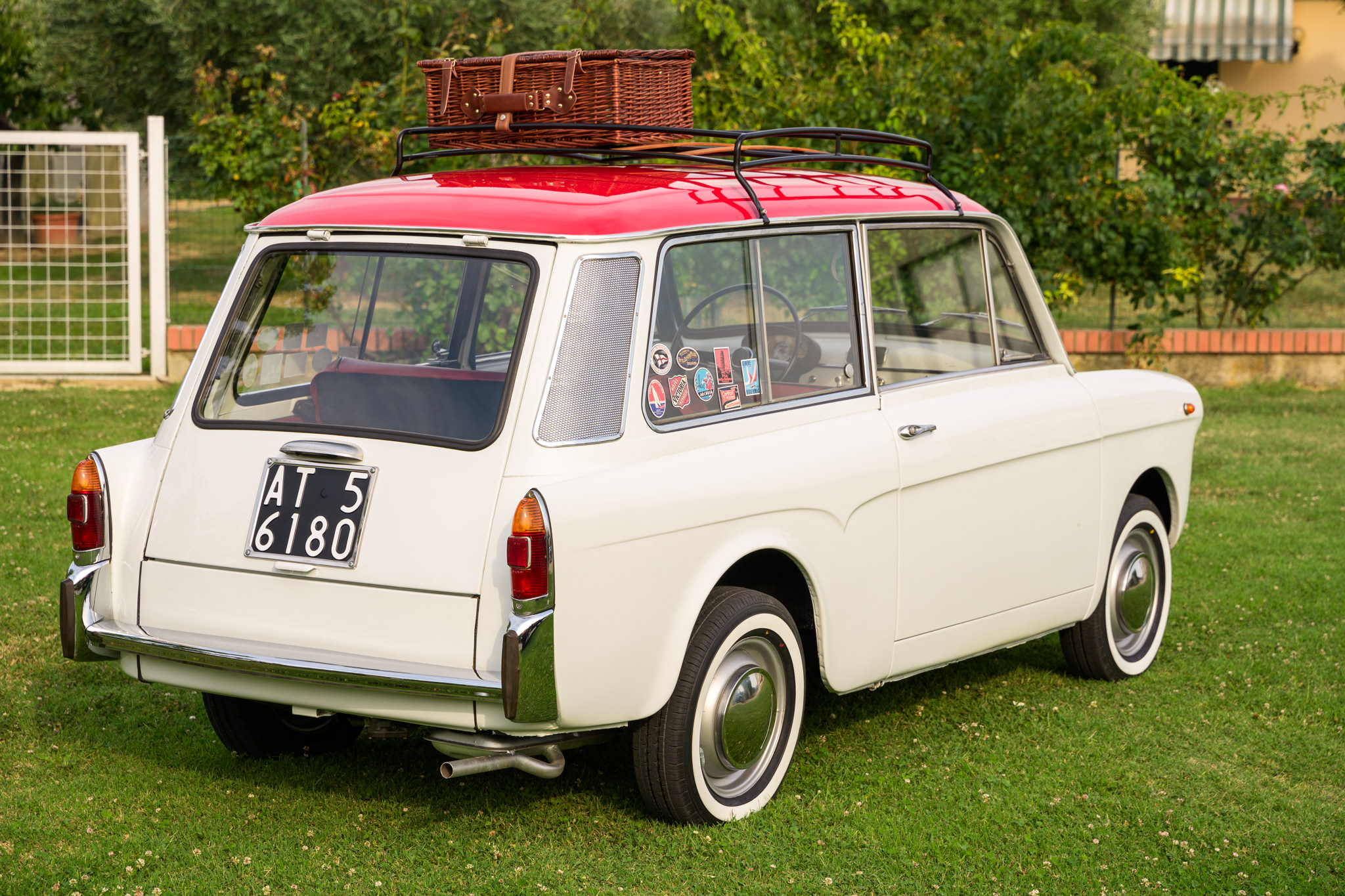 1966 Autobianchi Bianchina Panoramica Rear Three-Quarter