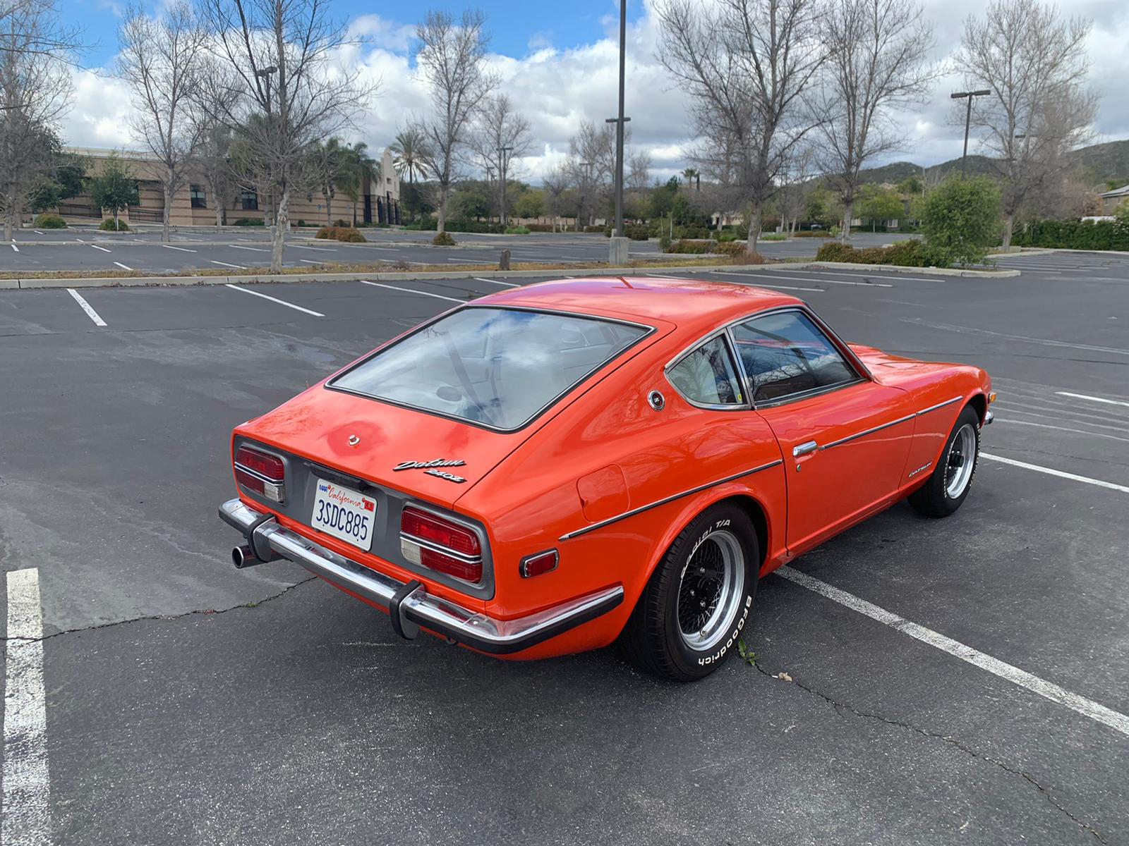 1972 Datsun 240Z Rear Three-Quarter