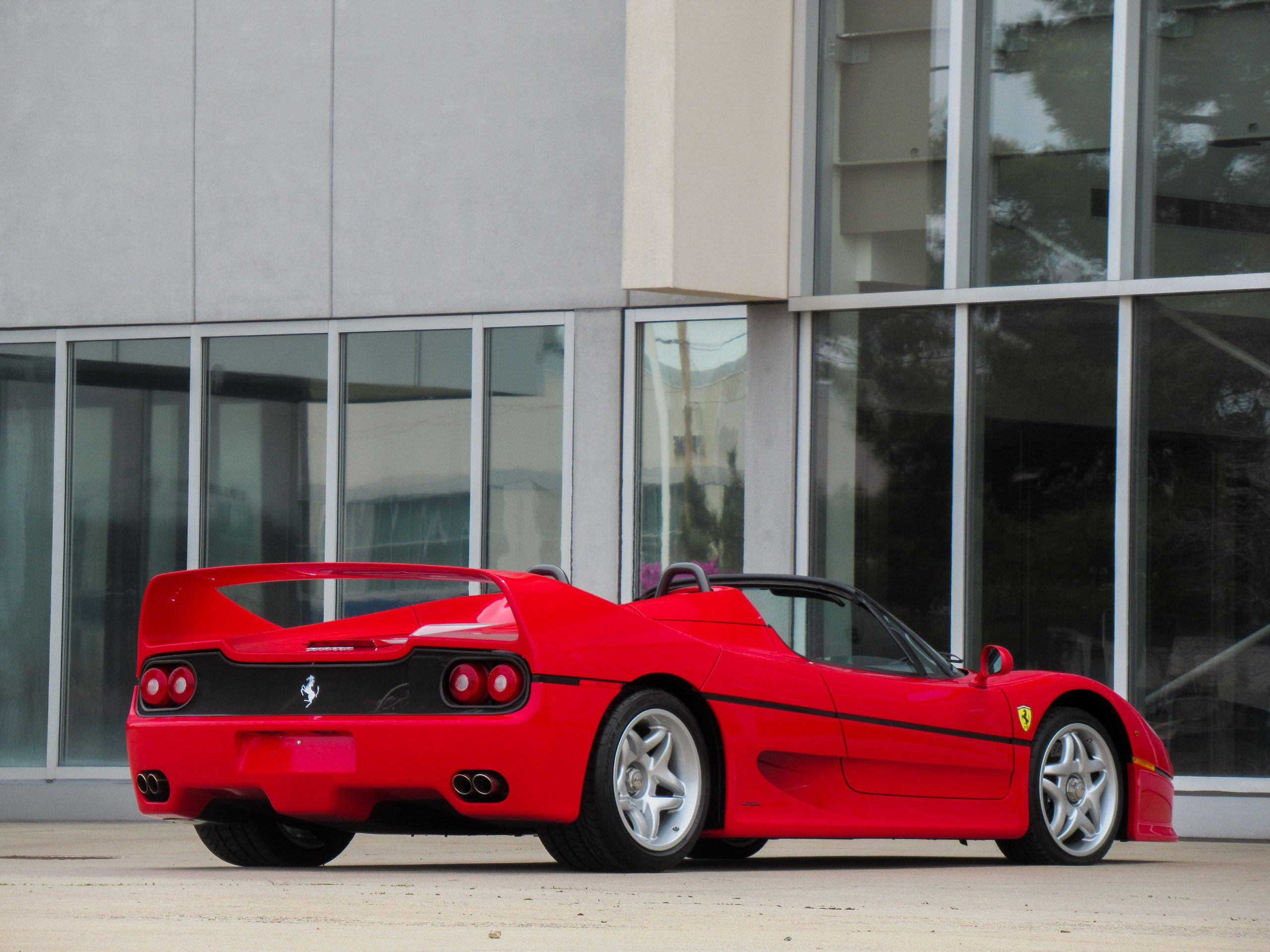1995 Ferrari F50 Rear Three-Quarter