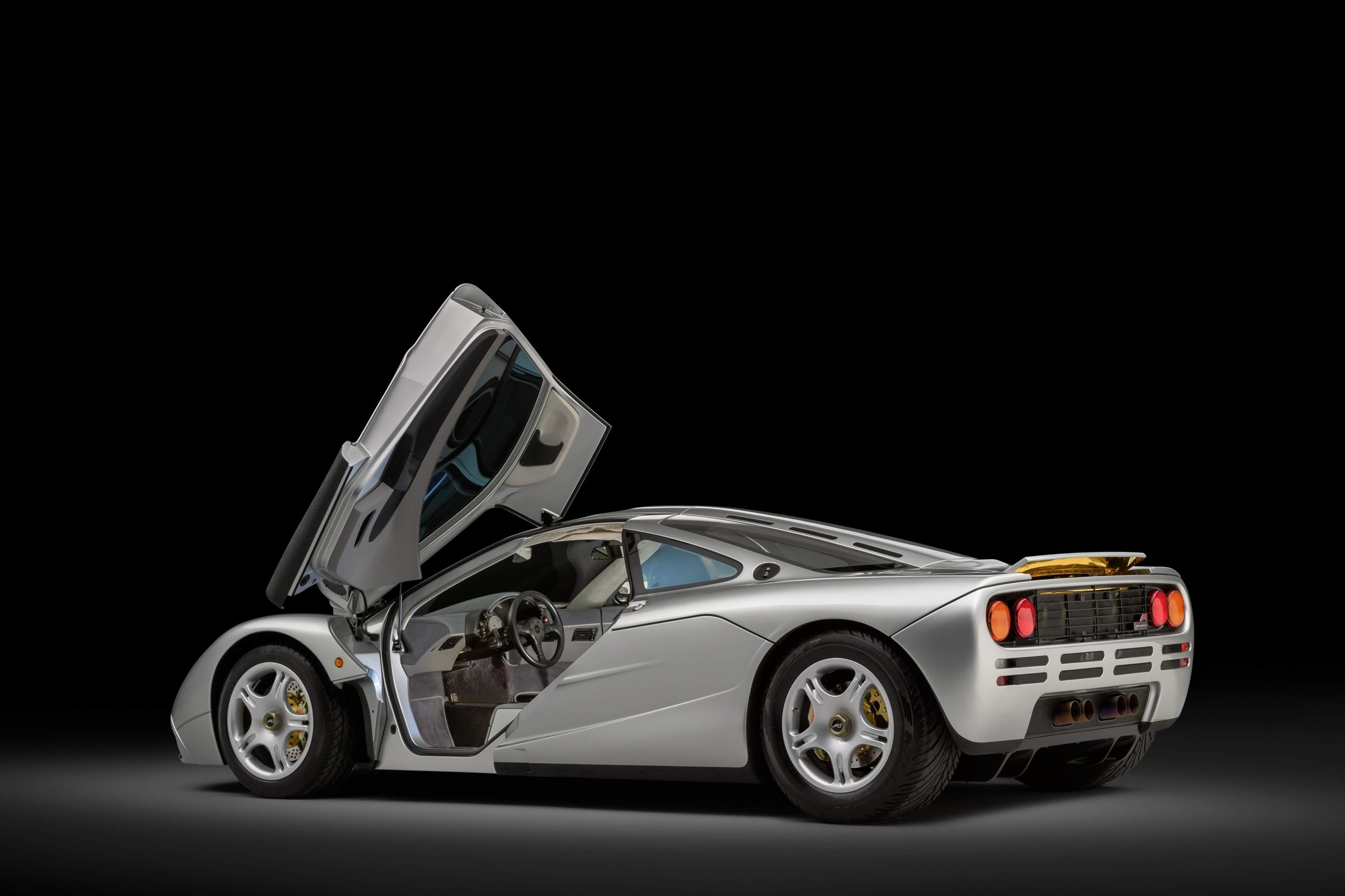 McLaren F1 Rear Three-Quarter Door Raised