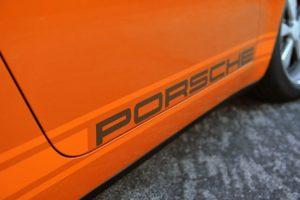 Singer Bahrain Porsche Lettering Detail