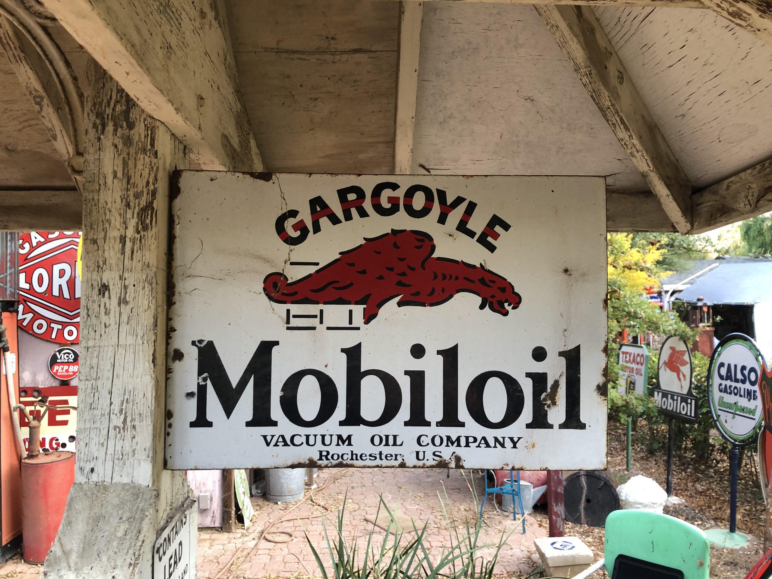 gargoyle oil vintage sign
