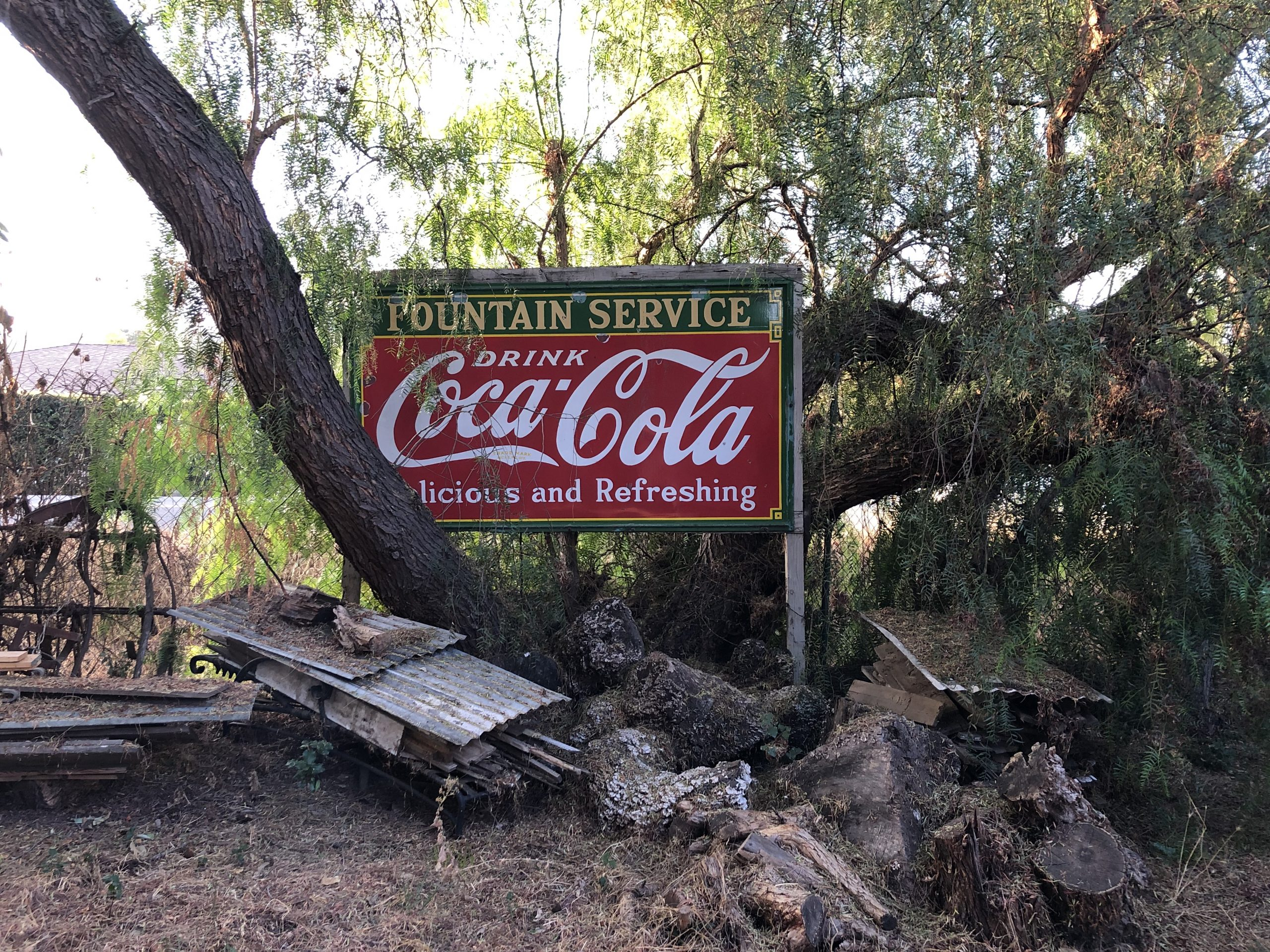 coca cola vintage drink roadsign