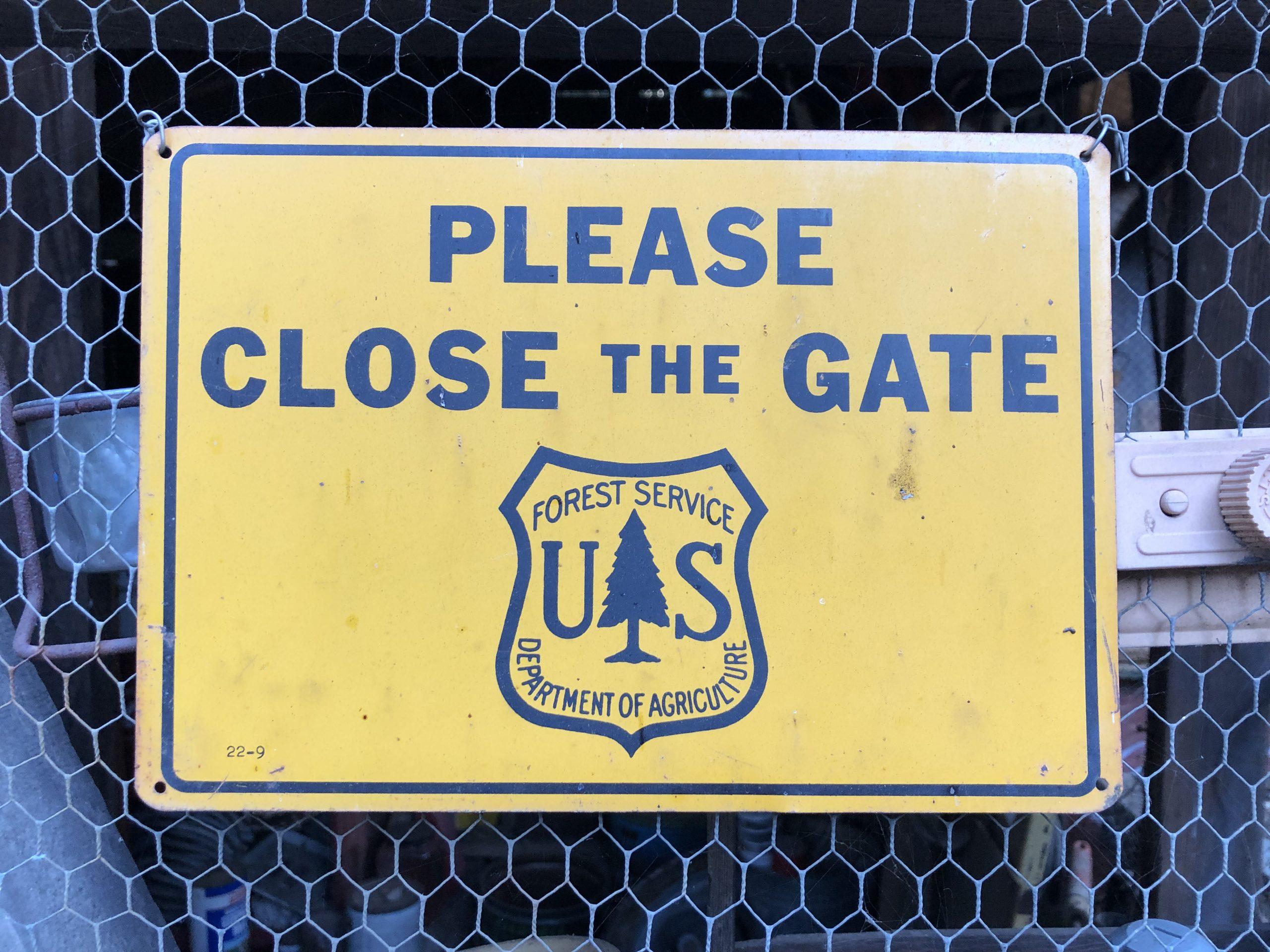 vintage US Forest Service sign