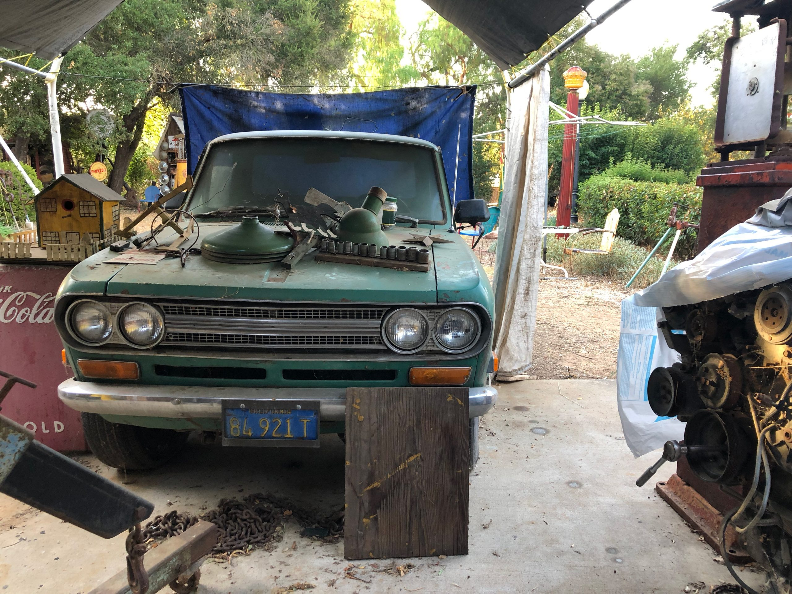 vintage car engine and automobilia