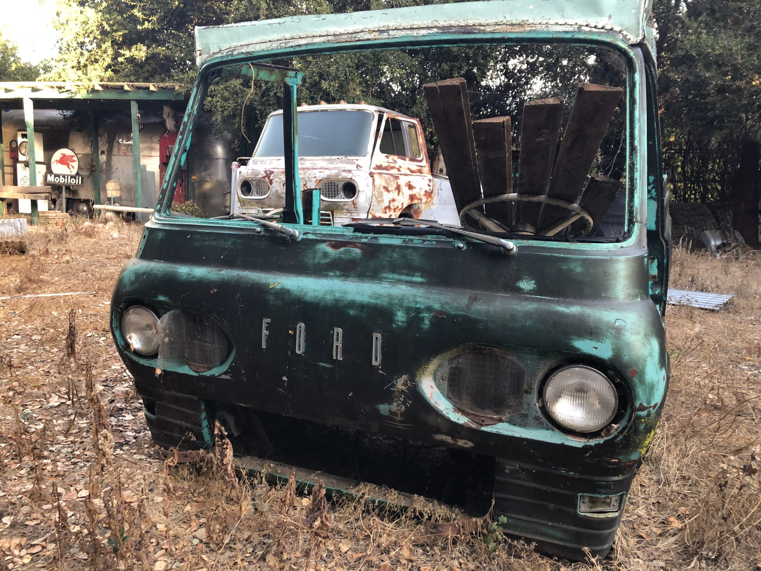vintage green patina ford front fascia
