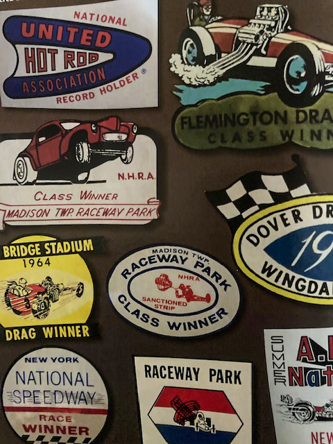 Pontiac Road Runner drag race decals