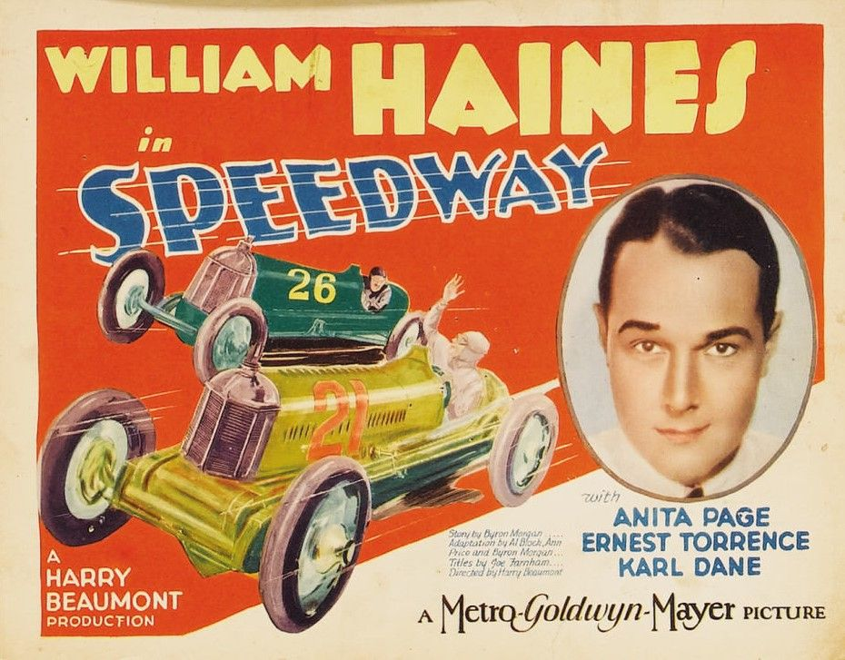 Speedway Movie Motion Picture Poster