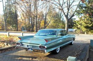 1961 sedan de ville rear three-quarter