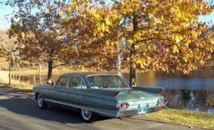 sedan de ville rear three-quarter autumn