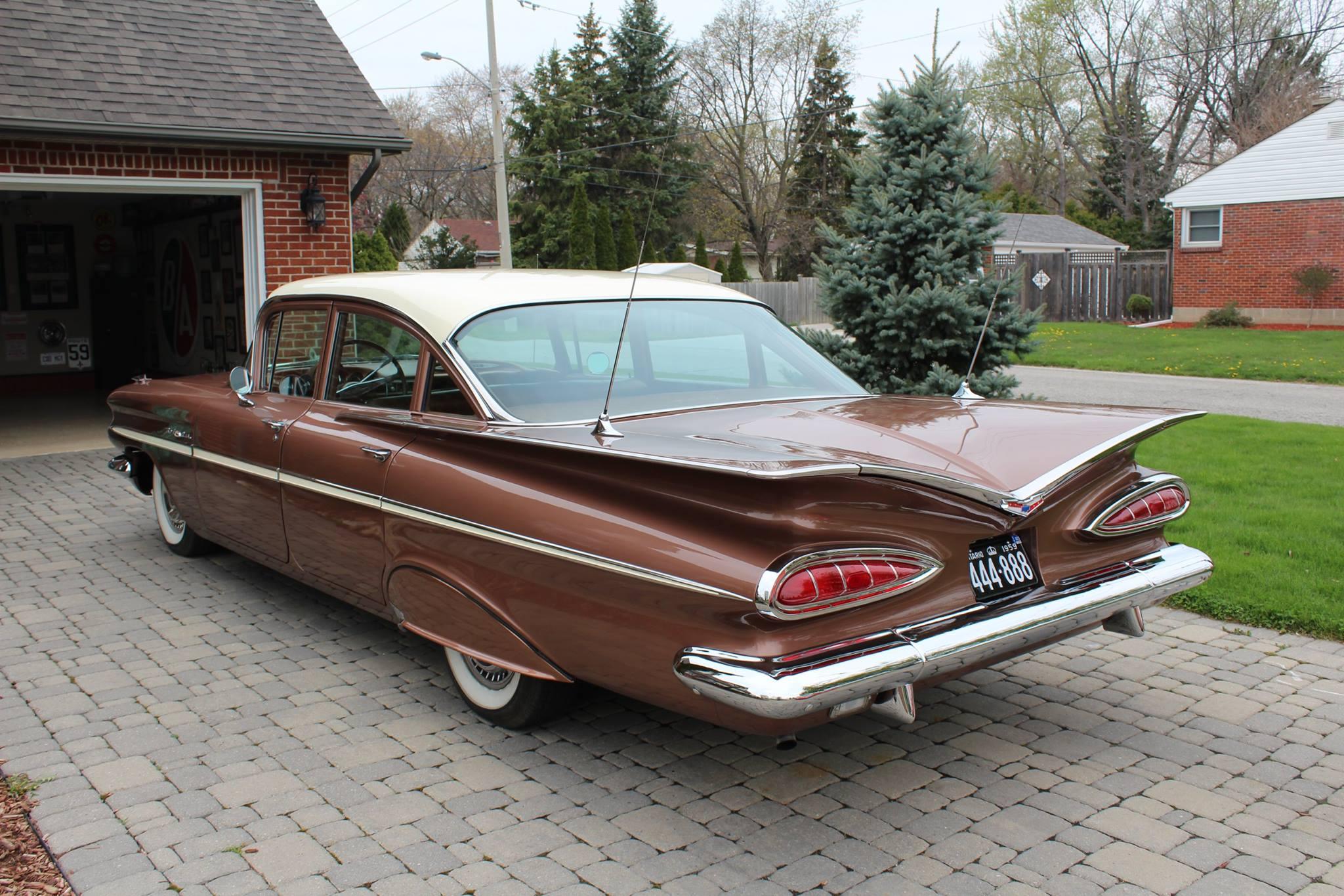 1959 Chevrolet Bel Air rear three quarter