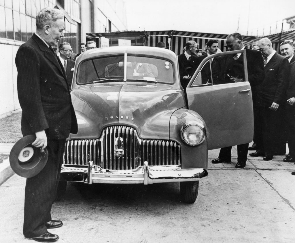 Prime Minister With 1948 Holden 48-215